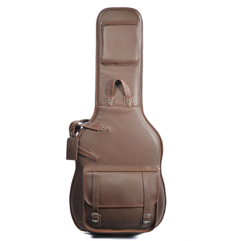 Levy's LM18 Leather Gig Bag for Electric Guitar - Brown