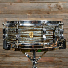 Ludwig 5x14 Jazz Festival Snare Drum Blue Oyster 1960 USED