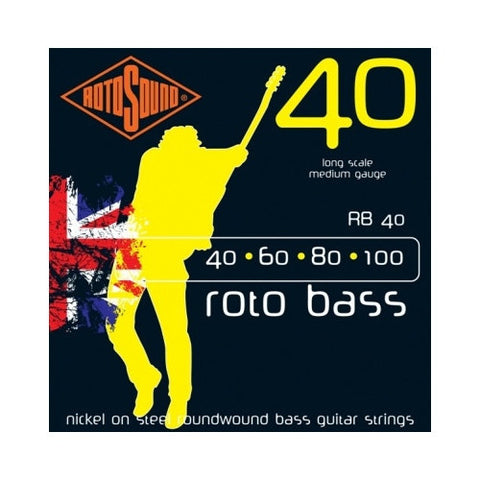 Rotosound RB40 Rotobass Nickel Roundwound Bass Strings 40-100