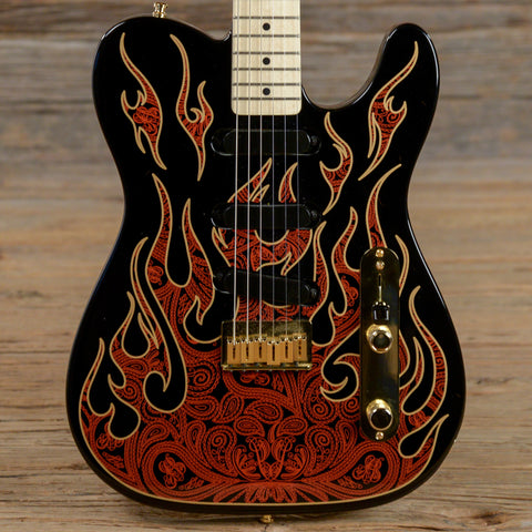 Fender Artist Series James Burton Telecaster MN Red Paisley Flames 2012 (s535)