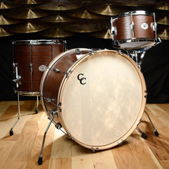 C&C Signature CDE Player Date 3pc Big Band Drum Kit Maple/Oak 13/16/24 Walnut