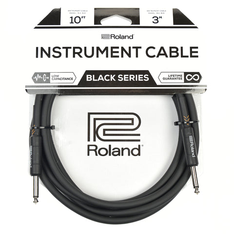 "Roland Black Series 10ft S/S 1/4"" Instrument Cable"