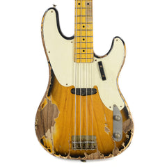Nash PB-55 2-Tone Burst Relic w/1-Ply White Pickguard & Lollar Pickups (Serial #3368)