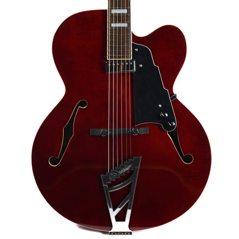 D'Angelico Premier EXL-1 Hollow Single Cutaway Stairstep Tailpiece Trans Wine