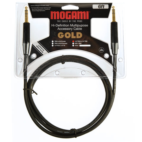 Mogami Gold 1/4 TRS Cable 6ft