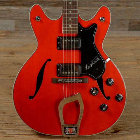 Hagstrom Viking Red 1960s (s001)