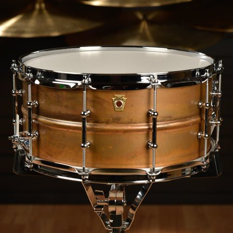 Ludwig 6.5x14 Raw Copper Snare Drum w/Tube Lugs