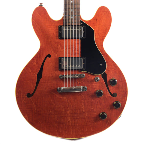 Collings I-35 LC Aged Faded Cherry w/3-Ply Black Pickguard & ThroBak SLE101 Plus MXV Humbuckers (Serial #17872)
