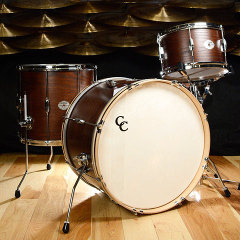 C&C Signature CDE Player Date 3pc Big Beat Drum Kit Maple/Oak 13/16/22 Walnut