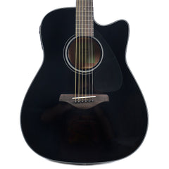 Yamaha FGX800C Dreadnought Cutaway Acoustic Limited Edition Black w/Electronics