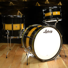 Ludwig Club Date Vintage 12/14/20 3pc Drum Kit Black/Gold Duco