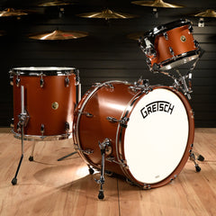 Gretsch Broadkaster 12/14/20 3pc Drum Kit Satin Copper