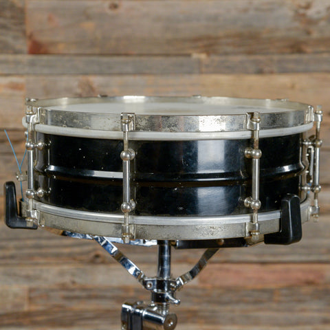 Slingerland 5x14 Orchestra Model Snare Drum Black Lacquer 1930s USED