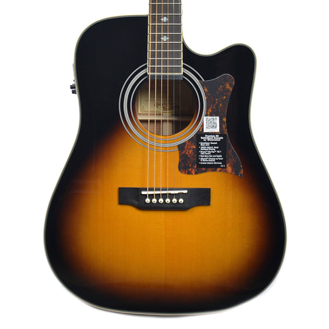 Epiphone Masterbilt DR-500MCE Dreadnought Acoustic-Electric Vintage Sunburst