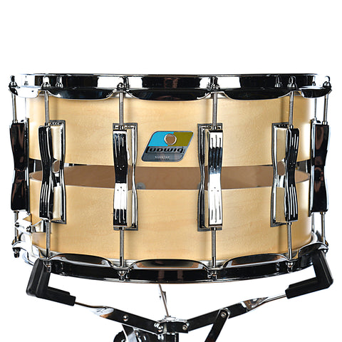 Ludwig 8x14 Slotted Coliseum Maple Satin Snare Drum