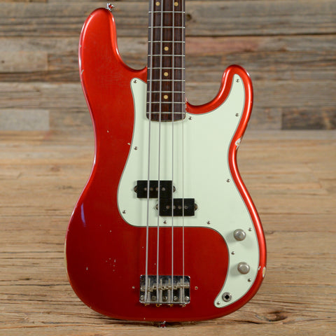 Fender Precision Bass RW Candy Apple Red Refin 1963 (s592)