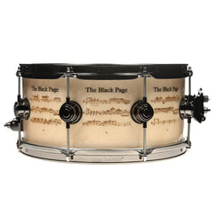 DW The Black Page Limited Edition Hand Inlayed and Laser Engrave Snare Drum (1 of 250)