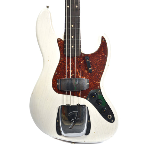 Fender Custom Shop 1962 Jazz Bass Journeyman Relic White Blonde (Serial #R85510)