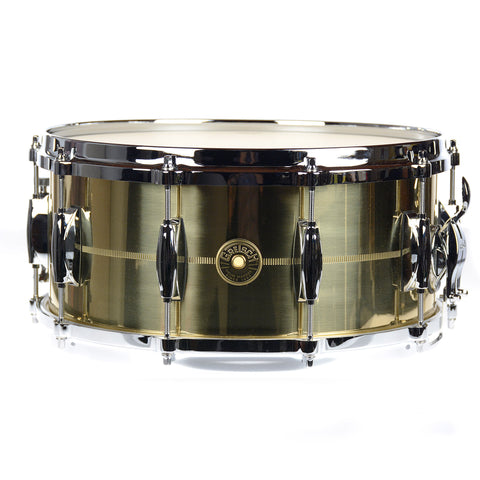 Gretsch 6.5x14 USA G-4000 Solid Spun Brass Snare Drum