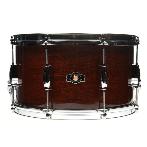 George Way 8x14 Tradition Mahogany Snare Drum Wine Red