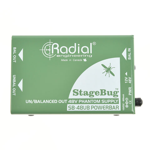 Radial StageBug SB-48UB Hi-Lo Phantom Power Supply