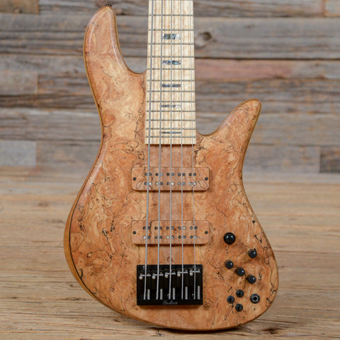 Fodera Emperor 5-String Bass Custom Spalted Maple 2016 USED (s19D)