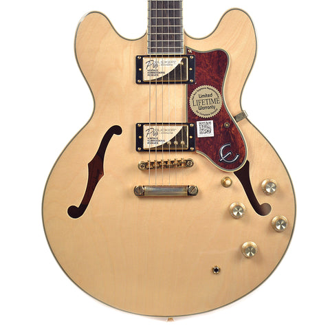 Epiphone Sheraton-II Pro Natural GH w/ProBuckers & Coil-Tap