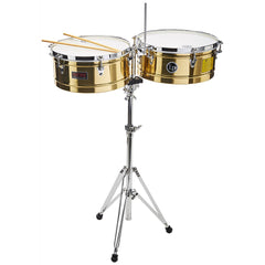 "LP Prestige 14"" and 15"" Timbales Brass"