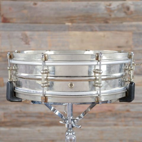 Duplex 4x14 Nickel Over Brass Snare Drum 1930s USED