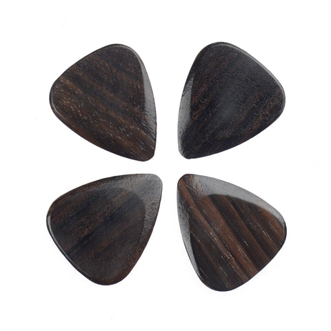 Timber Tones Macassar Ebony Guitar Picks 4Pack