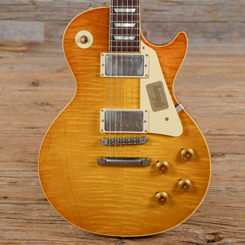 Gibson Custom Shop Les Paul Standard Figured Top Brown Lemon 2017 (s085)