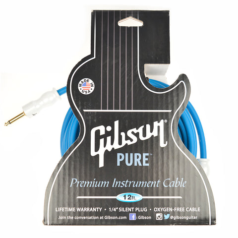 Gibson Instrument Cable 12' Blue