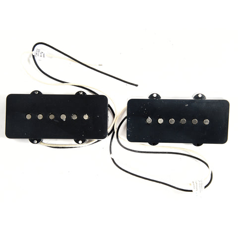 Lindy Fralin Hum-Cancelling P-90 Soap Bar Pickup for Jazzmaster Set 5% Overwound Cloth Lead Black