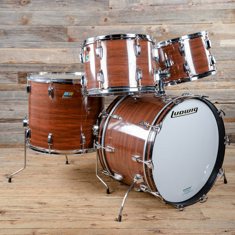 Ludwig 13/14/18/22 4pc Drum Kit Mahogany Cortex Mid 1970s USED