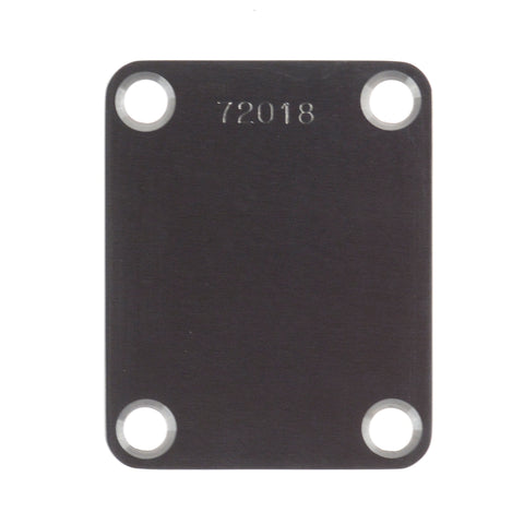Callaham Stainless Steel Neck Plate for Strat Satin Finish