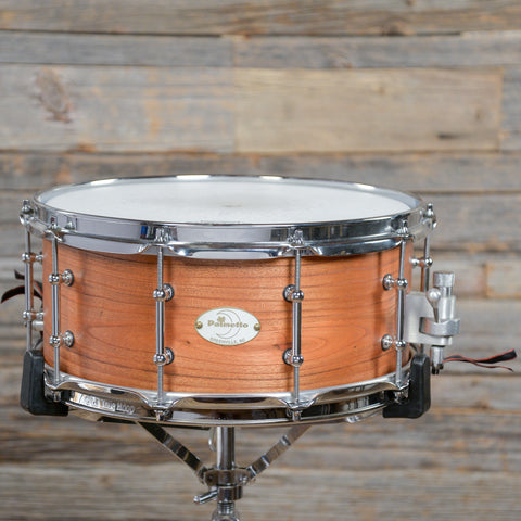 Palmetto Custom 6.5x14 Solid Shell Catalpa Wood Snare Drum 2013 USED