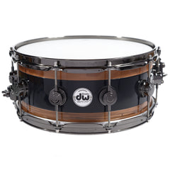 "DW Reverse Edge 6x14"" Snare Black Core Walnut w/Black Nickel Hardware"