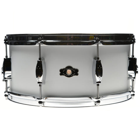 George Way Tradition 6.5x14 Walnut Snare Drum Matte White