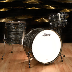 Ludwig 13/16/24 Classic Maple 3pc Kit Vintage Black Oyster