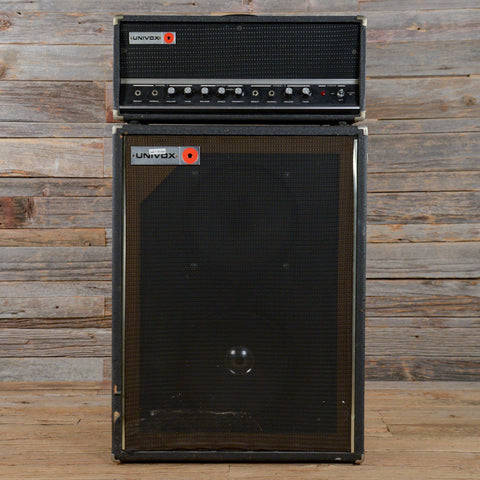 Univox Tube Amp Head and 2x12 Cabinet 1970s (s336)