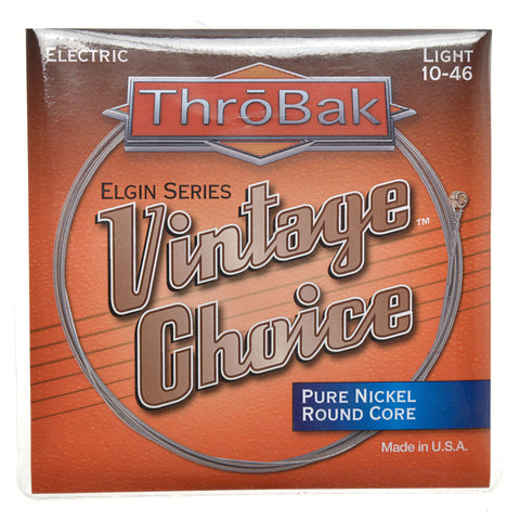ThroBak Round Wound Pure Nickel Round Core Light Electric String Set (10-46)