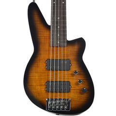 Reverend Mercalli 5 Bass Coffee Burst Flame Maple MN