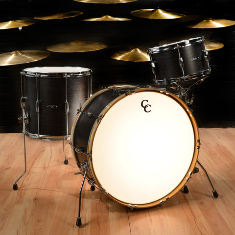 C&C Player Date 2 13/16/24x12 3pc Big Band Kit Ebony Satin