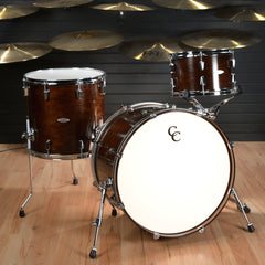 C&C Gladstone 13/16/22 3pc Kit Walnut Gloss w/Aged White Marine Pearl Inlay