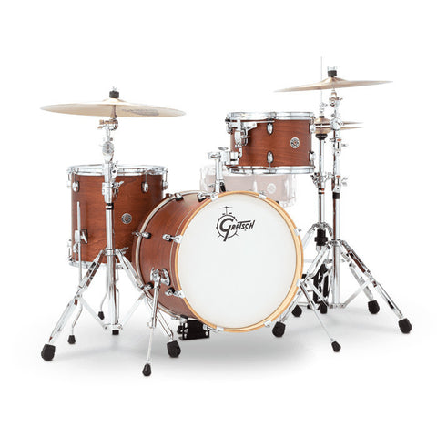 Gretsch Catalina Club Jazz 12/14/18 3pc Drum Kit Satin Walnut Glaze
