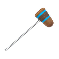 Low Boy Light Brown/Med Brown/Light Brown Shock Blue Stripes Leather Daddy Bass Drum Beater