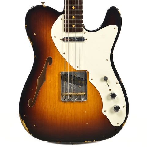 Fender CS Limited 50's Thinline Telecaster Relic Wide Faded 2 Color Sunburst