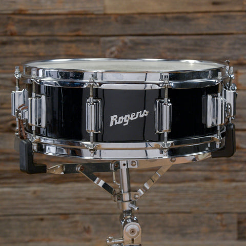 Rogers 5x14 Wood Dynasonic Snare Drum Black 1960s