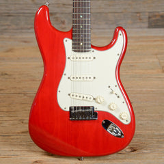 Fender American Deluxe Stratocaster Transparent Red 2000 (s587)