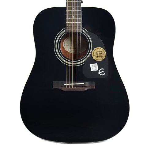 Epiphone PRO-1 Dreadnought Acoustic Ebony Floor Model